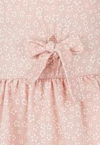 See-Saw - Front Tie Dress Pale Pink