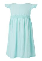 See-Saw - Dress with Smocked Bodice Green