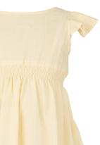 See-Saw - Dress with Smocked Bodice Yellow