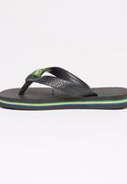 Havaianas - Brazil Logo Flip Flops-Black