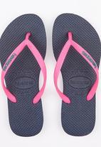 Havaianas - Slim Logo Pop Up Flip Flops Navy