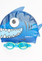 SPEEDO - Sea Squad Cap & Goggle Set Blue