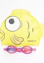 SPEEDO - Sea Squad Cap & Goggle Set Yellow