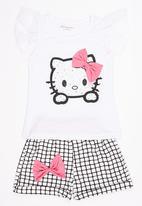 POP CANDY - 2 Piece Printed Hello Kitty  Set White