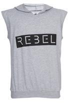 Rebel Republic - Hooded Gilet Grey
