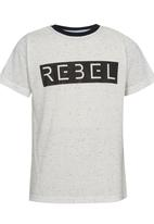 Rebel Republic - Burnout Tee with Print White