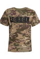 Rebel Republic - Burnout Tee with Print Multi-colour