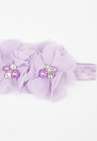 POP CANDY - Flower  Headband Pale Purple