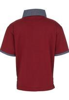 Retro Fire - Golfer Tee Dark Red
