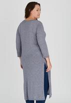 edit Plus - Longer Length Hi Slit Tunic Grey