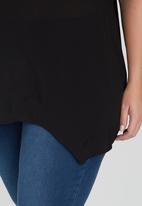 edit Plus - Wide Hem T shirt Black