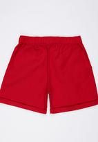 Rebel Republic - Twill Shorts Red