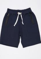 Rebel Republic - Shorts with Zip Detail Navy