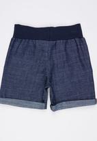 See-Saw - Checked Shorts with Rib Navy