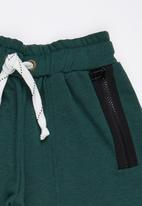 Rebel Republic - Shorts with Zip Detail Green