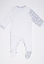 Poogy Bear - Crossover Opening Babygrow Grey