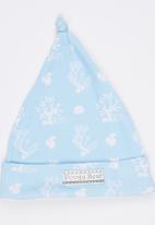 Poogy Bear - Printed Beanie Pale Blue