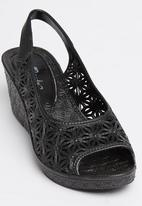 Candy's - Jelly Wedge Black