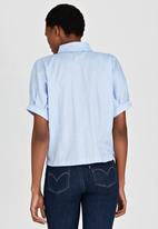 edit - Shirt with Volume Sleeves Blue