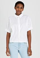 edit - Shirt with Volume Sleeves White