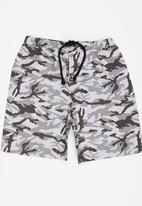 See-Saw - Printed Shorts Grey Melange