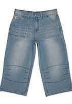 Retro Fire - Denim Shorts Mid Blue