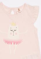 Soobe - Printed Tee Pale Pink