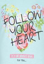 Soobe - Printed Follow Your Heart Tee Blue