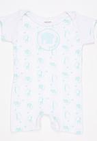 Poogy Bear - Short Sleeve Romper Mid Green