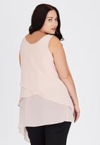 edit Plus - Layered Tank Top Pale Pink