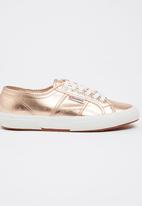 SUPERGA - Metallic Foil Sneakers Rose gold
