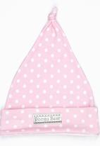 Poogy Bear - Printed Beanie Mid Pink