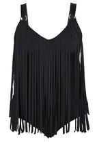 Sun Things - Fringed One-Piece Costume Black