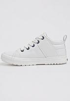 Foot Focus - PU High Top Sneaker White