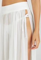 SALT - Mesh Panel Skirt White