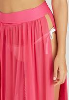 SALT - Mesh Panel Skirt Cerise Pink