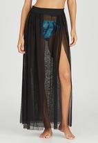 SALT - Mesh Panel Skirt Black