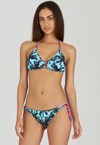 Banana Moon - Zanio Front-Tie Bikini Top Blue
