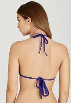 Banana Moon - Triangle Volts Necklo Bikini Top Mid Purple