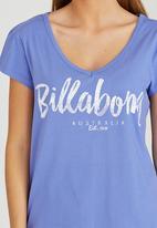 Billabong  - Sea Legend V-scoop Tee Mid Blue