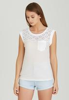 Element - Orchid Tee White