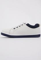 Awol - Boys Lace Up Sneaker White