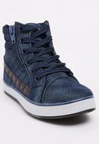 Awol - Boys High Top Sneaker Blue