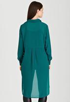 STYLE REPUBLIC - High-low Shirt Dark Green