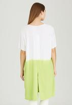 Slick - Milla Ombre Long Tunic with Open Back Light Green