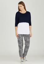Slick - Daisy Ombre Dip Boxy Top Blue and White