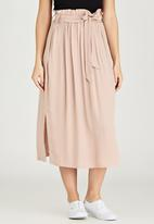 STYLE REPUBLIC - Self-Tie Midi Skirt Pale Pink
