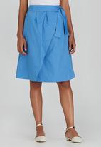 adam&eve; - Vena Wrap Skirt Pale Blue