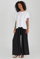 ERRE - Wide Sleeve Cotton Blouse White