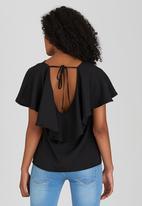 STYLE REPUBLIC - Back Detail Blouse Black